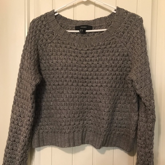 Forever 21 Sweaters - Forever21 grey cropped sweater